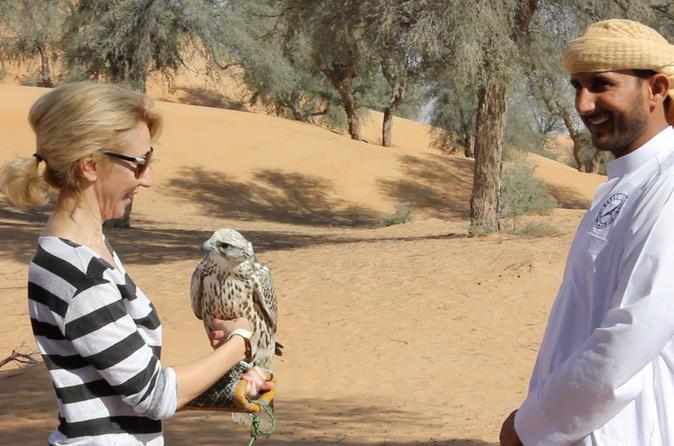 Small-Group Dubai Interactive Falconry Experience and Wildlife Drive with Optional Breakfast