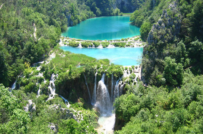 Plitvice Lakes National Park Tour from Split or Trogir