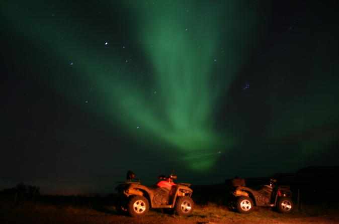 Northern Lights Hunt by ATV from Reykjavik